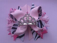 Princess hairbow by BTutuCuteBowtique on Etsy, $8.99