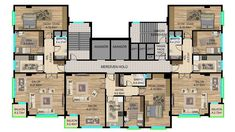 Apartment Floor Plans, House Floor Plans, Home Projects, Villa, Flooring, How To Plan, Buildings, Design, Mall