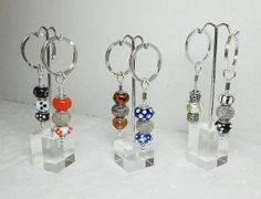 European Beaded KeyChain European Style Bead Keyrings http://etsy.me/1ip2iSo http://etsy.me/1ioXw7s via @Etsy #gifts #keychain #Europeanbeads #lampworked #smallgifts by LuvaBead, $10.00