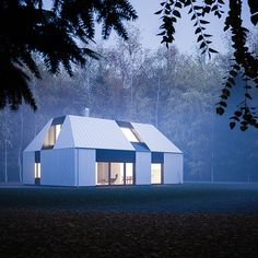 Claesson Koivisto Rune designed the Tind House as a prefab/kit house that falls in line with modern Scandinavian, single-family houses featuring a single-pitch roof. Cabana, Tyni House, Modern Prefab Homes, Prefab Houses, Desert Homes, Modern Barn, Kit Homes, Interior Architecture, Scandinavian Architecture