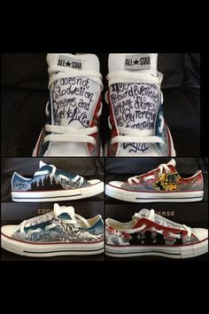 Harry Potter Custom Adult Chucks/Converse- Make your own design on Etsy, $125.00