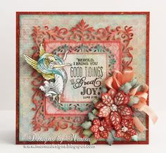 JustRite Christmas Release - Great Joy Clear Stamps | JustRite Papercraft Inspiration Blog