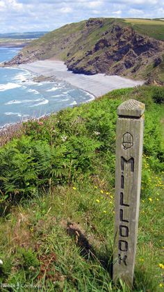 View from coast path at Millook Haven, Cornwall