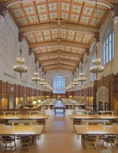 14 Stunning University Libraries | Landmark Law Library Reading Room at University of Michigan  – Ann Arbor, Michigan