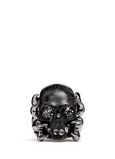 Alexander McQueen Plexiglas Claw Skull ring