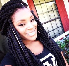 Poetic justice. Box braids. Big braids. Jumbo braids.I want it like ASAP my style all day!!!