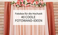 Photo booth for the wedding: 40 cool photo wall ideas - Hochzeit - BadeAnzug Photo Boxes, Cool Photos, Photo Wall, Cool Stuff, Home Decor, Weddings, Wall Ideas, Google, Party