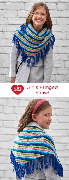 Girls' Fringed Scarf
