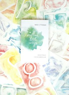 Printable Watercolor Letters from Emily at Jones Design Company - print them on watercolor paper and they look legit!