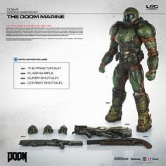 Doom The Doom Marine Sixth Scale Figure by ThreeA Toys | Sideshow Collectibles