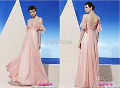Wholesale Evening Dresses - Buy Customized Elegant A-Line Spaghetti Strap Floor-Length Sweep Train Chiffon Sequins Beads Crytals Hollow Prom And Evening Dresses ZM182, $109.0 | DHgate