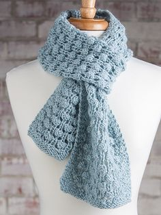 Free Knit Pattern Download -- This Bubble Wrap Scarf, designed by KNC Design Team, is featured in episode 4, season 5 of Knit and Crochet Now! TV. Learn more here: https://www.anniescatalog.com/knitandcrochetnow/patterns/detail.html?pattern_id=19&series=2