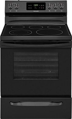 Frigidaire Smooth Surface 5 Elements Ft Self-Cleaning Freestanding Electric Range (Black) (Common: Actual: