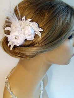 Bridal Hair accessories  Wedding hairpiece by svitlanasbridalveils, $35.95