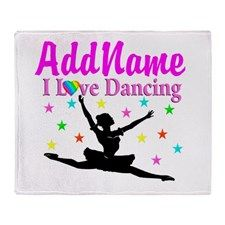 FOREVER DANCING Throw Blanket Beautiful Dancer & Ballerina fleece blankets.  http://www.cafepress.com/sportsstar/10423569 #Dancer #Dancergifts #Ballet #Ballerina  #Personalizeddancer #Ballerinablanket