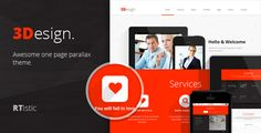 3Design - Awesome One Page Parallax Theme - Corporate