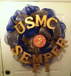USMC  USMC Wedding  USMC Wreath  Military  by ElsiesCreativeDesign #Marines #CraftShout