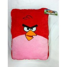 """Red Angry Bird Plush Pillow approx 15"""" x 11"""""""
