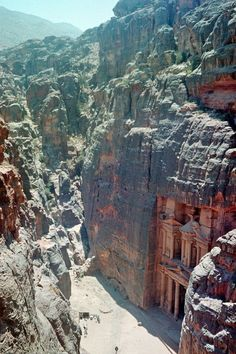 Petra, Jordan - Established 312 BCE Archaeological city in the southern Jordanian.  Rock cut architecture and water conduit system, Petra was home to roughly 30.000 people and was abandoned in the year 106 A.D The reasons for the abandonment of Petra still remain unknown today.: