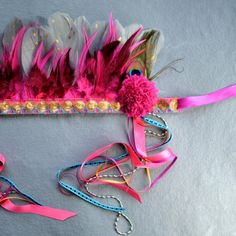 pink festival headdress 3
