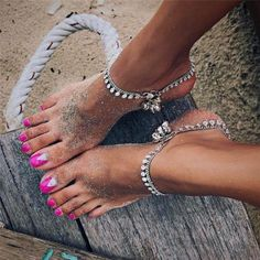 Buy Cute Alloy Bell Sequin Pendant Chain Anklets Bracelet Charm Women Gold Silver Ankle Bracelets Body Jewelry Summer Accessories Gifts at Wish - Shopping Made Fun Silver Ankle Bracelet, Gold Anklet, Anklet Jewelry, Body Jewelry, Chain Jewelry, Bridal Jewelry, Coin Bracelet, Anklet Bracelet, Anklets Online
