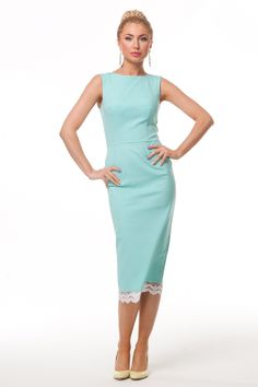Платье футляр мята #1