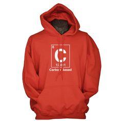 Funny nerd hoodie science geek sweatshirt - Carbon Based life science gift for by UnicornTees, $29.99