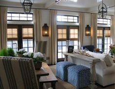 love the colors and patterns.  beautiful lighting and transom windows