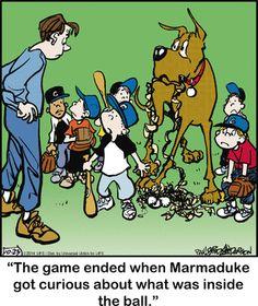 Marmaduke Comic Strip for Oct/23/2014 on GoComics.com