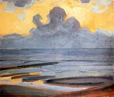 On the Shore, 1907-1909 / Piet Mondrian