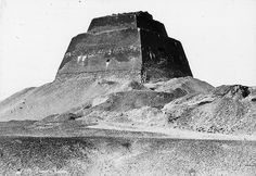 Egyptian - Old Kingdom. Step Pyramid of Meidum, 4th Dyn. circa 1900