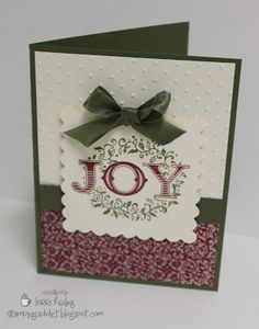 Confessions of a Stamping Addict - JOY card