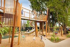 The Australian Institute of Landscape Architects is celebrating Australia's best designed public playspaces in a publicly voted competition Wood Playground, Playground Design, Backyard Playground, Playground Ideas, Children Playground, Bangkok, Landscaping Near Me, Landscaping Software, Parking Design