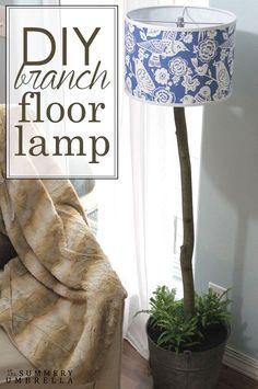 DIY Branch Floor Lamp