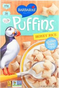 Barbara's Bakery Puffins Cereal - Honey Rice - Case Of 12 - 10 Oz. Whole Grain Brown Rice, Brown Rice Flour, Gluten Free Cereal, Gluten Free Rice, Organic Superfoods, Rice Cereal, Corn Flakes, Cereal Recipes