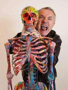 Damien Hirst Modern Art Sculpture, Art Sculptures, Damien Hirst, Geek Art, Halloween Face Makeup, Portrait, Illustration, Misfit Toys, Eccentric