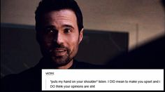 """*puts my hand on your shoulder* listen. I DID mean to make you upset and i DO think your opinions are shit"" grant ward + text posts #Marvel Agents of S.H.I.E.L.D. #AoS #AgentsofSHIELD"