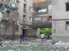 04/07/2014: Mykolaivka, near Sloviansk, after being bombed by Kiev's Army.