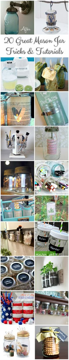 Love all these great Mason jar crafts and diy ideas that involve Mason jars! ♥♥
