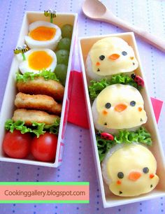 Cooking Gallery: Simple Cheesy Chicks Bento