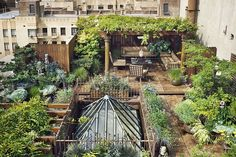 Rare, private garden paradise awaits atop this duplex penthouse loft in prime Chelsea, New York City, USA.