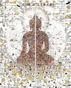 ARTIST: Gonkar Gyatso (Tibet)  #Yellowmenace #Buddha #BuddhistArt  More Buddha Art @ YM Blog (37 images) http://yellowmenace8.blogspot.com/2016/07/art-collection-buddhist-inspired-art.html