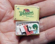 Dollhouse Miniatures Postcards Lot of 20 in Whitman Chocolate Box 1:12  Handcrafted