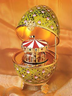 Carrousel Musical Egg by Faberge, celebrating his 166th birthday today!