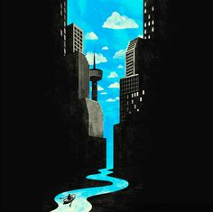 Tang Yau Hoong is a visual artist from Malaysia who cleverly uses negative space to create beautiful illustrations. via Creative Overflow Tang Yau Hoong's website Illustration Art Nouveau, Space Illustration, Art Illustrations, Tang Yau Hoong, Negative Space Art, Space Artwork, Space In Art, Space Painting, Art Watercolor