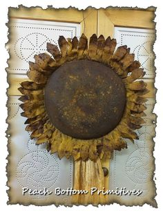 Primitive Large Grungy Sunflower Door Greeter by PrimsbyDenise, $5.50