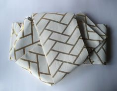 Japanese vintage casual obi sash - unisex - gold and off-white basket weave pattern- WhatsForPudding