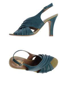 Nora High-heeled Sandals in Teal (Deep jade)