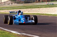 Michael Schumacher testing the JS39B to suss out the highly rated Renault engine.