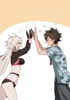 Summer Jeanne Alter is congratulated by Gudao Fate Grand Order Fate Jeanne Alter, Character Art, Character Design, Type Moon Anime, Fate Stay Night Series, One Punch Anime, Anime Art, Manga Art, Gamers Anime